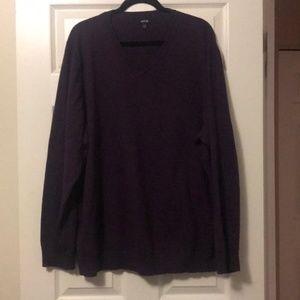 Apt 9 Men's Big & Tall V-Neck Purple Sweater (3XB)